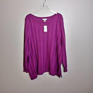 CJ Banks Knit Sweater- NWT